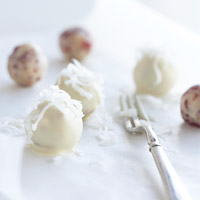 White Cranberry-Cashew Truffles