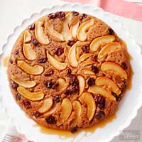 Image of Apple-maple Upside-down Cake, Better Homes and Garden