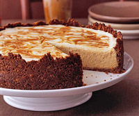 Pumpkin Cheesecake (with caramel swirl)