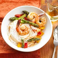 Peanut-Sauced Shrimp and Pasta