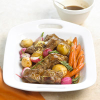 Image of Ale-sauced Pork Ribs And Vegetables, Better Homes and Garden
