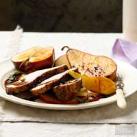 Pork Loin with Apples and Pears