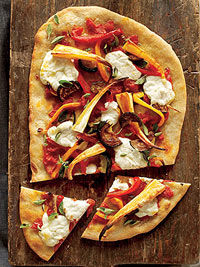 Shriveled Orge-Nose Pizza (Roasted-Vegetable Pizza)