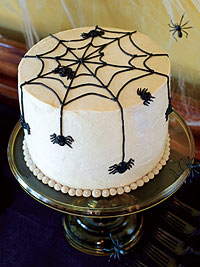 Creepy Crawly Cake (Chocolate Marbled Spider Cake)