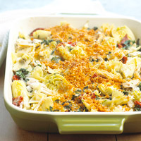 Chicken Florentine Artichoke Bake