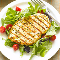 Chicken Paillard with Greens