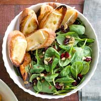 Spinach Salad with Brie Toast