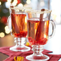 Hot Spiced Apple Cider and Pomegranate Juice