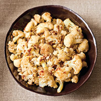Golden Cauliflower with Toasted Pumpkin Seeds