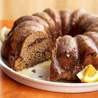 Sweet Potato Cinnamon Bundt Cake with Orange Glaze