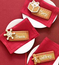 Gingerbread Place Cards