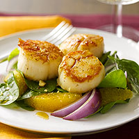 Scallop & Orange Salad