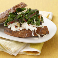 Sauteed Greens and Ricotta Sandwich