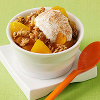 No-Bake Peach Crisp