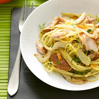 Spicy Snapper with Linguini