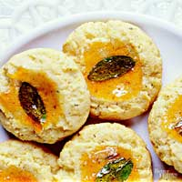 Cornmeal-Sage Thumbprints