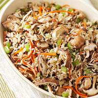 Mushroom-Wild Rice Stuffing