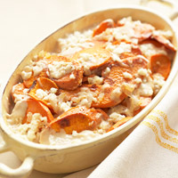 Chipotle Scalloped Sweet Potatoes