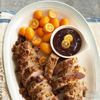 Pecan-Parmesan Pork with Port Sauce