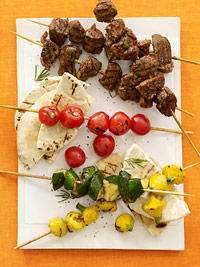 Lemon-Herb Lamb and Vegetable Kabobs