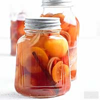 Sweet-Hot Pickled Peaches