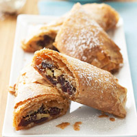 Cranberry and Orange Strudel