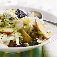 Fingerling Potato Salad with Leeks and Fennel