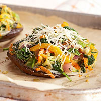 Veggie-Stuffed Portobello Mushrooms