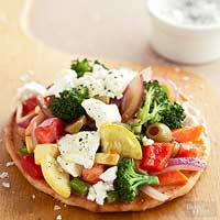 Vegetable Flatbreads with Goat Cheese
