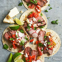 Steak and Herb Tacos