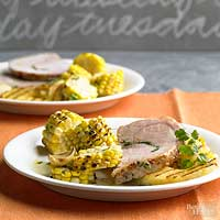 Chimichurri-Stuffed Pork Loin