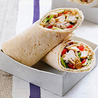 No-Cook Asian Chicken Wraps