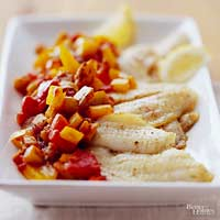 Sole with Caponata