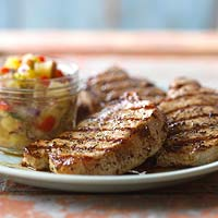 Greek Honey and Lemon Pork Chops