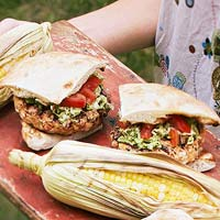 Fish Burgers with Dilled Slaw