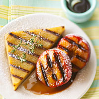 Dessert Polenta with Grilled Balsamic Plums
