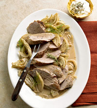 Sour Cream-Fennel Pork Tenderloins