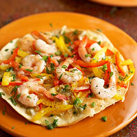 Mexican-Style Shrimp Pizza