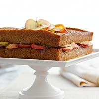 Cinnamon Apple Spice Cake with Apple Topper