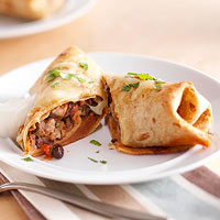 Turkey and Black Bean Chimichangas