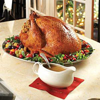 Classic Roasted Turkey with Pan Gravy