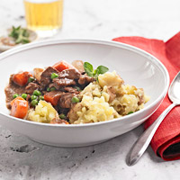 Beef Stew and Garlic Mash
