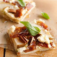 Sweet Bacon and Pear Pizza