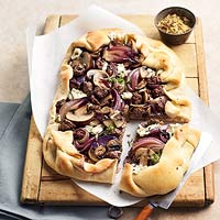 Beef, Mushroom, and Onion Tart