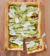 Zucchini and Caramelized Onion Tart