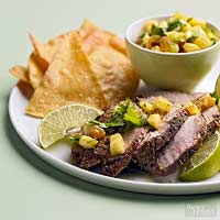 Caribbean Pork Loin with Pineapple Raisin Relish