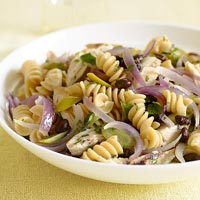 Warm Sweet and Savory Pasta Salad