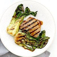 Soy-Glazed Tuna Steaks with Baby Bok Choy