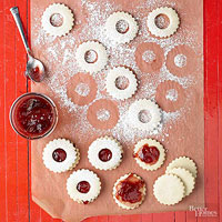 Raspberry Sugar Cookie Sandwiches