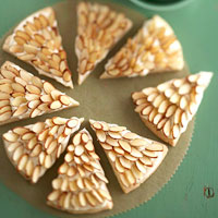 Almond Shortbread Wedges